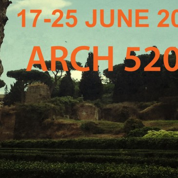 17-25 JUNE 2013: ARCH 5202