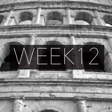 Week 12 Recap