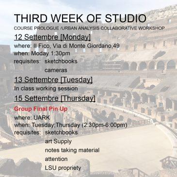 Third Week of Studio