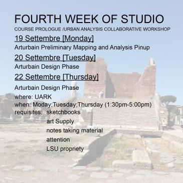 Fourth Week of Studio