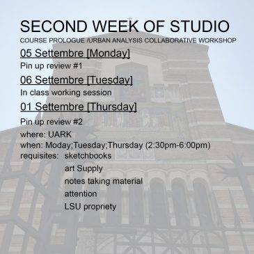 Second Week of Studio