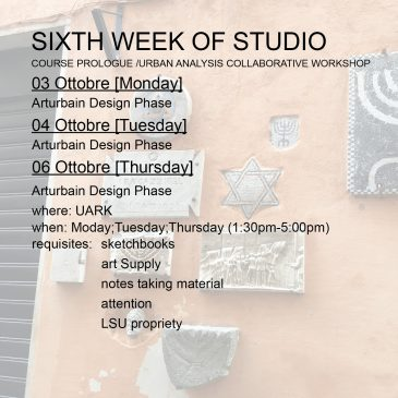 Sixth Week of Studio