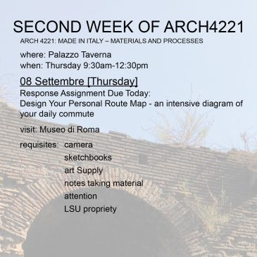 Second Week of Arch4221