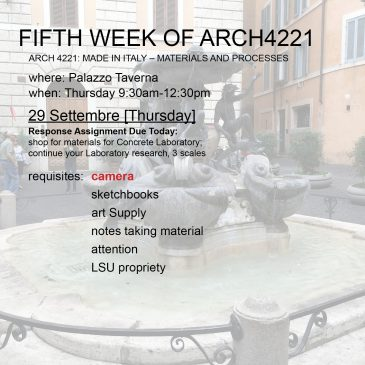 Fifth Week of Arch4221