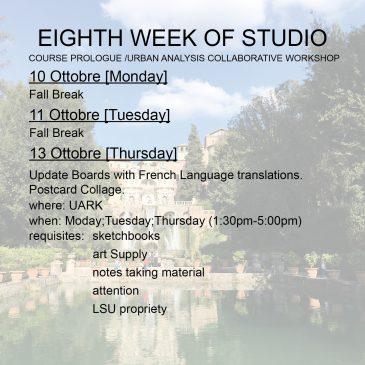 Eighth Week of Studio