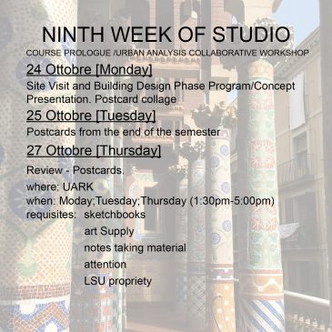 Ninth Week of Studio