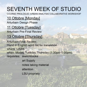 Seventh Week of Studio