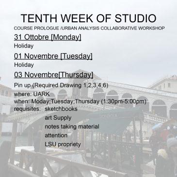 Tenth week of Studio