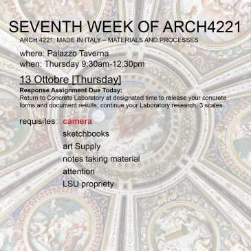 Seventh Week of Arch4221
