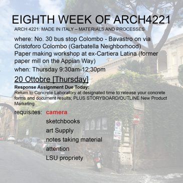 Eighth Week of Arch4221