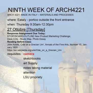 Ninth Week of Arch4221
