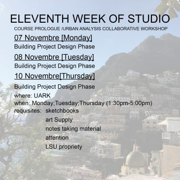 Eleventh Week of Studio