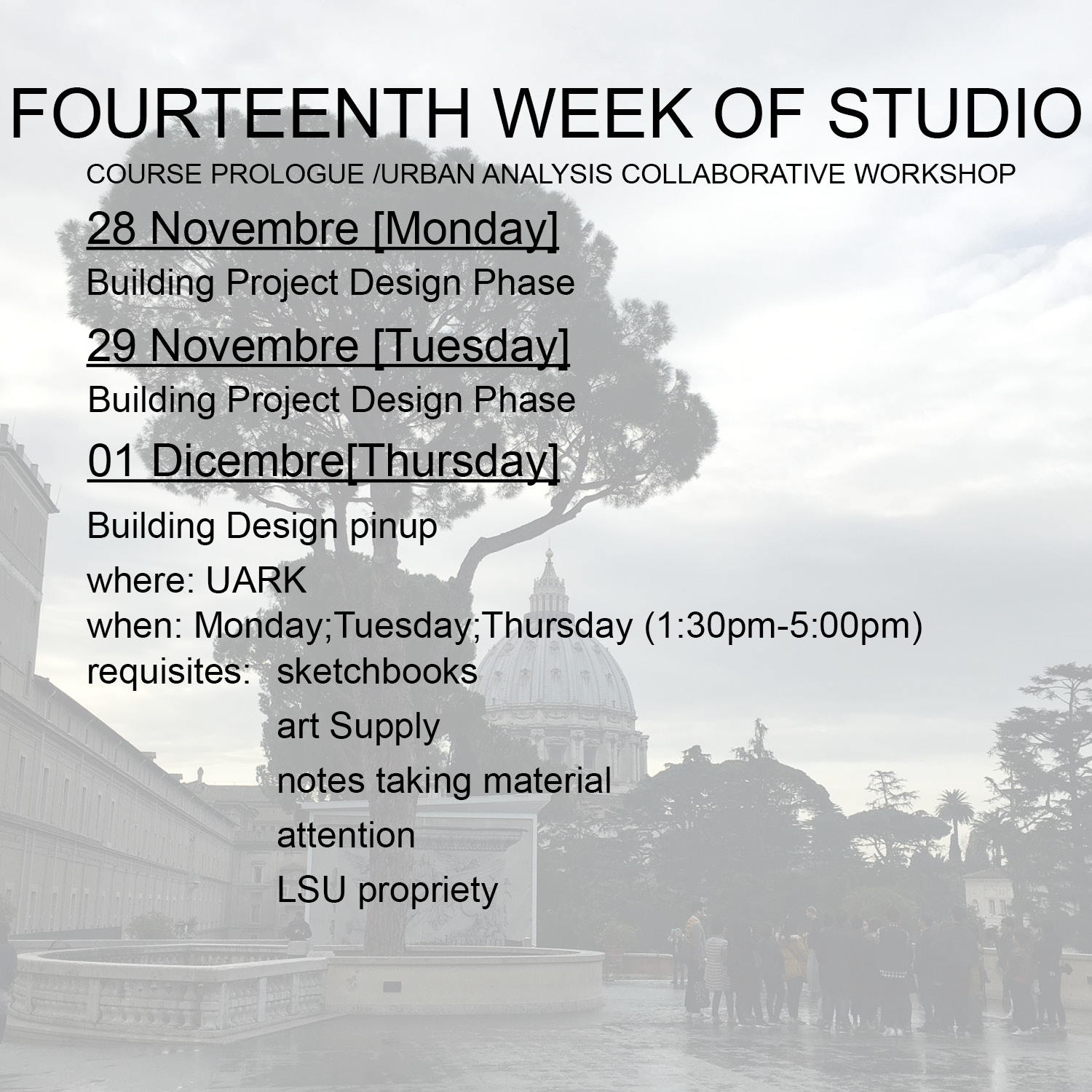 2016_Fourteenth week studio