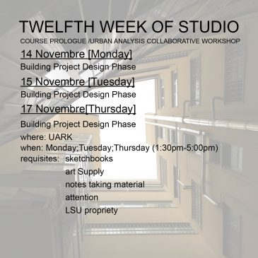 Twelfth Week of Studio