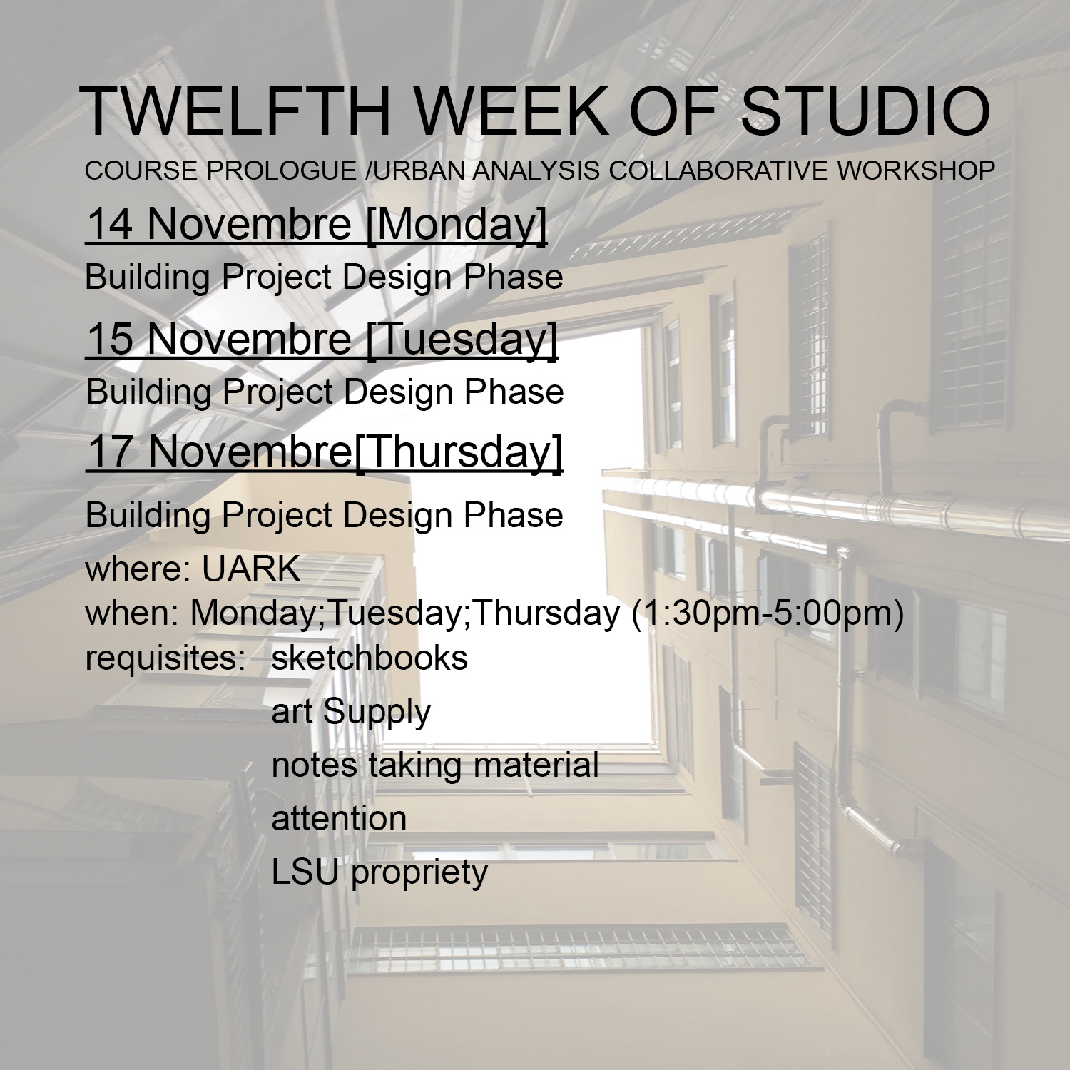 2016_Tewlfth week studio