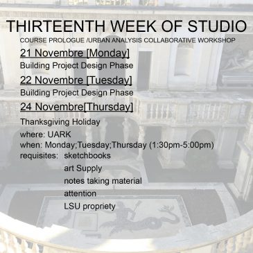 Thirteenth Week of Studio