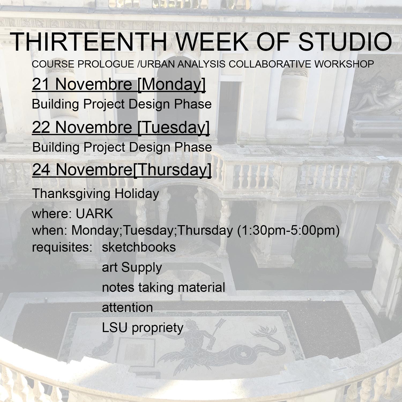 2016_Thirteenth week studio