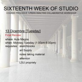 Sixteenth Week of Studio