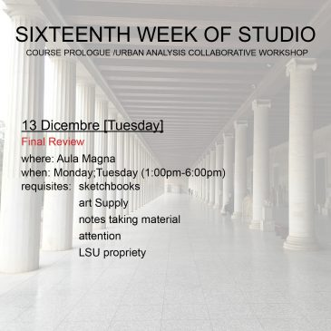 Sixteenth Week of Studio